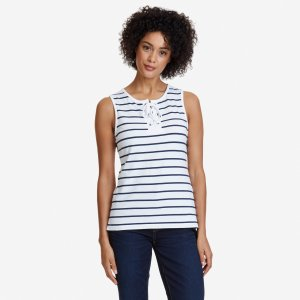 Striped Lace-Up Top - Sky Blue Wash | Nautica