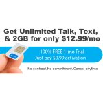 FreedomPop Unlimited Talk, Text, and 2GB LTE 1-mo. Trail