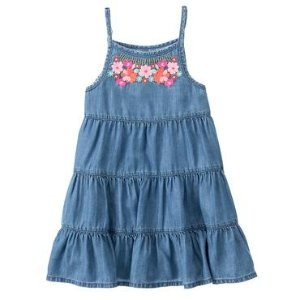 Girls Soft Chambray Chambray Dress by Gymboree