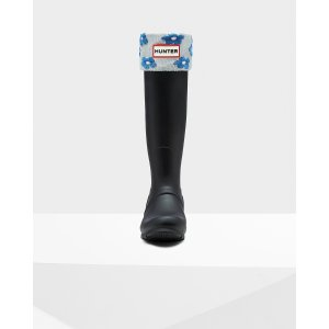 Hunter Blue Patterned boot Socks | Official US Hunter Boots Store