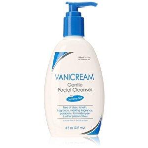 Vanicream Gentle Facial Cleanser with Pump Dispenser, 8 Ounce : Beauty