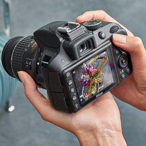$399Nikon Refurbished D3300 24.2MP Digital SLR with 18-55mm and 55-200mm VR II Lenses