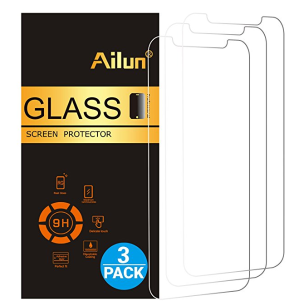 $3.99iPhone X Screen Protector,iPhone 10 Screen Protector,[3 Pack]by Ailun,2.5D Edge Tempered Glass for iPhone X/10[5.8inch],Anti-Scratch,Case Friendly,Siania Retail Package