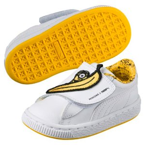 Minions Basket Wrap Statement Leather Kids Sneakers, buy it @ www.puma.com