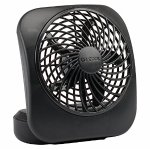 O2COOL 5-Inch Portable Fan, Black