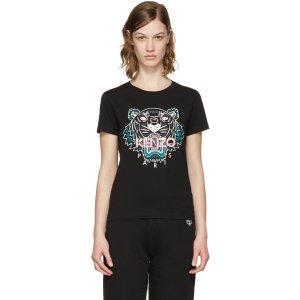 Kenzo: Black Tiger T-Shirt | SSENSE