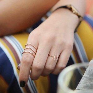 三圈戒指 玫瑰金