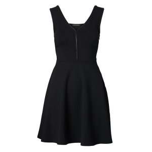 Ponte Fit-and-Flare Dress 黑色款