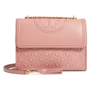 Fleming Quilted Lambskin Leather Convertible Shoulder Bag