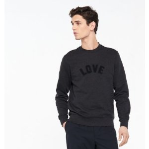 SWEATSHIRT WITH TONE-ON-TONE LOVE PATCH