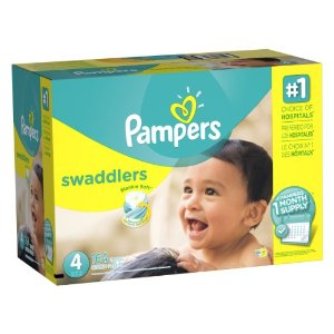 $24.12 Prime Only!Pampers Swaddlers Diapers Size 4, 164 Count (One Month Supply)