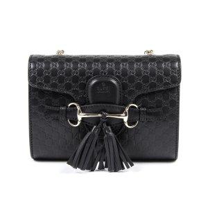 Gucci Womens Handbag Gg Ssima Black | Bluefly.Com