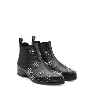 Embellished Leather Ankle Boots - Alexander McQueen