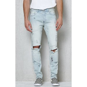 PacSun Skinniest Destroyed Scribbled Stretch Jeans at PacSun.com