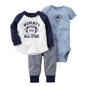 Baby Boy 3-Piece Babysoft Bodysuit Pant Set | Carters.com