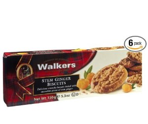 $4.19 Walkers Shortbread Stem Ginger Biscuits, 5.3-Ounce Boxes (Count of 6)