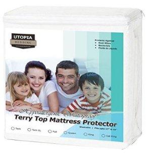 低至$16.99 - $19.99特卖Utopia Bedding 优质防水防尘防螨虫床套, Twin - King尺寸