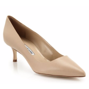 Manolo Blahnik - BB 50 Leather Point Toe Pumps - saks.com