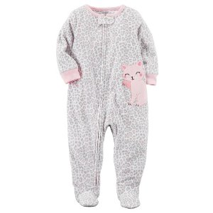 1-Piece Kitty Fleece PJs
