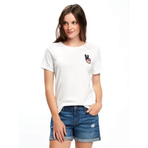 EveryWear Graphic Curved-Hem Tee for Women | Old Navy