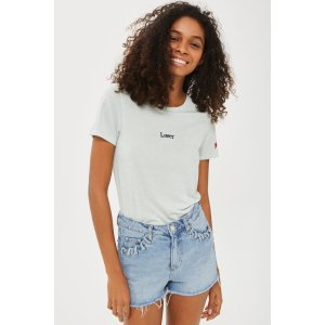 'Lover' Motif T-Shirt - New In Fashion - New In - Topshop USA