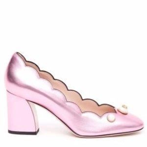 Gucci - Gucci Pearl Gg Button Pumps - 432066B8B00 5851, Women's Shoes | Italist