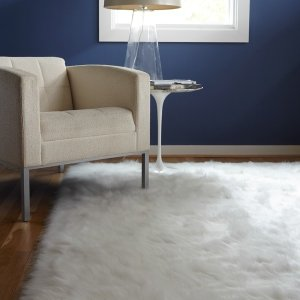Jungle Sheep Skin White Rug (5' x 7'6) - Free Shipping Today - Overstock.com - 12945557