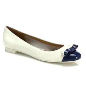 Salvatore Ferragamo - Elea Colorblock Vara Bow Leather Ballet Flats - saks.com