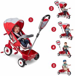 $72.27史低价:Radio Flyer 5合1儿童多功能推车 三轮车 6个月以上适用