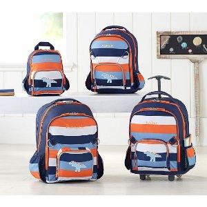 Fairfax Navy/Orange Multicolor Stripe Backpacks | Pottery Barn Kids