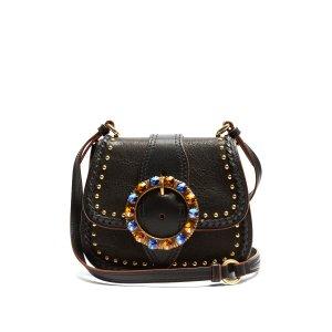 Dalia embellished leather cross-body bag | Miu Miu