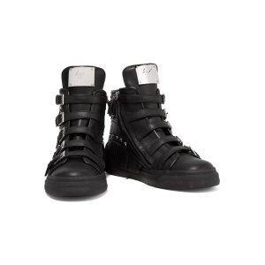 Studded fringed leather sneakers | Giuseppe Zanotti