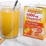 Emergen-C 维生素C 泡腾冲剂 30包,预防感冒,美白淡斑,多口味可选