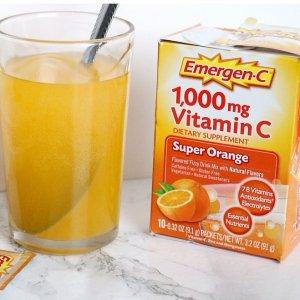 $6.97Emergen-C 维生素C 泡腾冲剂 30包,预防感冒,美白淡斑,多口味可选