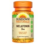 Sundown Naturals Melatonin 3 mg, 60 Tablets