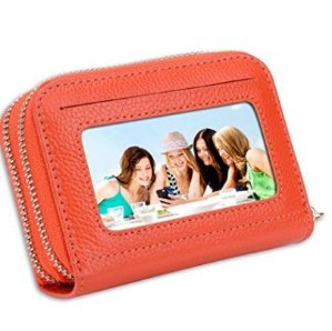 $22.94 - $24.64(原价$28.99)SHANSHUI 女士真皮防盗卡包