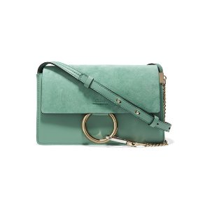 Chloé Faye small suede and leather shoulder bag