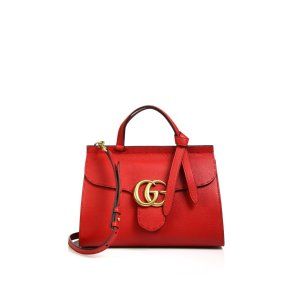 Gg Marmont Leather Top-Handle Bag by Gucci