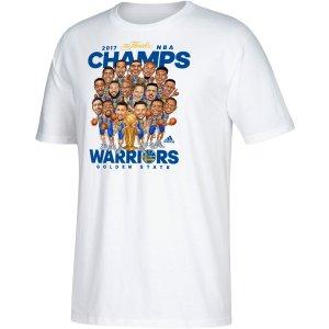 adidas Men's 2017 NBA Champions Golden State Warriors Caricature White T-Shirt| DICK'S Sporting Goods