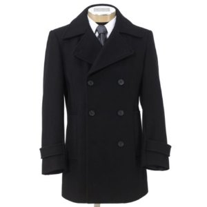 Executive Collection Traditional Fit Double-Breasted Peacoat