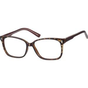 Tortoiseshell Square Acetate Eyeglasses #1262 | Zenni Optical Eyeglasses