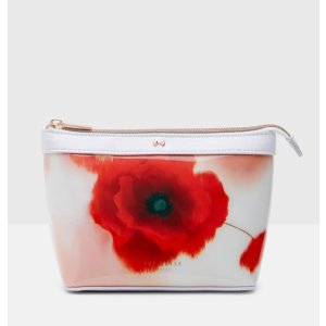 Playful Poppy small wash bag - Mid Red | Gifts | Ted Baker