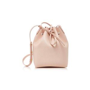 Mini Bucket Pink Leather Bag