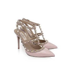 Valentino Garavani Rockstud Ankle Strap Heels