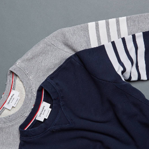 Zip-Up Bar Striped Hoodie