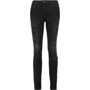 W2 mid-rise distressed skinny jeans