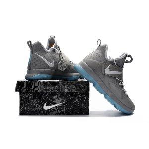 Nike LeBron 14 - Men's - Basketball - Shoes - LeBron James - Matte Silver/White Glow
