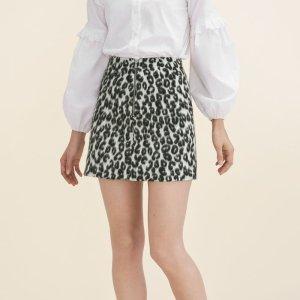 JAZARA Leopard-print A-line skirt