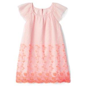 Eyelet tulle flutter dress | Gap