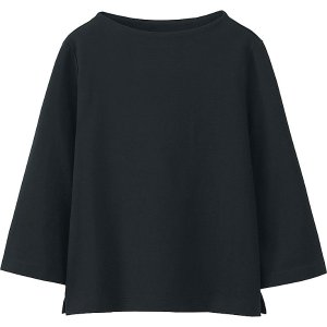 WOMEN MOCK NECK WIDE 3/4 SLEEVE T-SHIRT